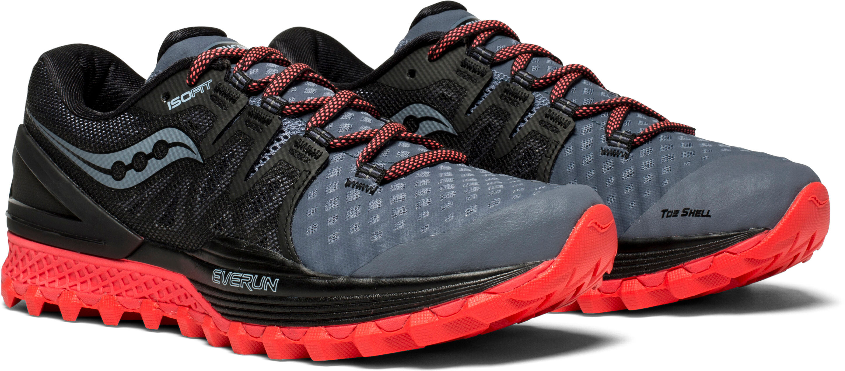 2037433d7639 saucony Xodus ISO 2 Chaussures Femme, grey/black/vizipro red ...